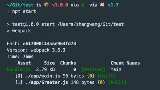 使用npm start 打包代码